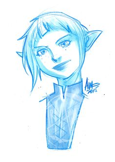 Aimo's Sketch Cards - (A selection of bust sketches included in the most...