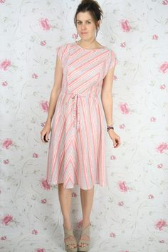 Vintage nautical striped dress by renewvintage on Etsy