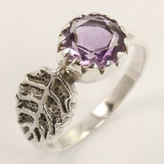 Beautiful Ring Size US 8 Natural AMETHYST Gemstone 925 Sterling Silver Jewellery #Unbranded
