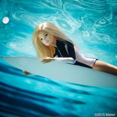 Sometimes you just have to dive in!  #barbie #barbiestyle