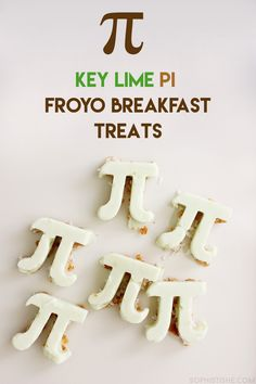 Key Lime Pi Froyo Breakfast Treats - Happy Pi Day! #AD @Yoplait