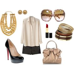 My first Polyvore outfit. Yummy.