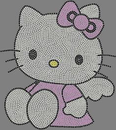 Hello Kitty Angel or Heart Rhinestone Iron on Transfer Hot Fix Bling | eBay