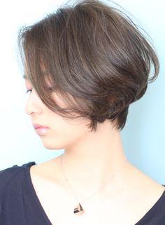 ☆大人のシルエット美人ひし形ショートボブ(髪型ショートヘア)