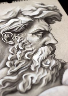 Zeus, tatto, sketch