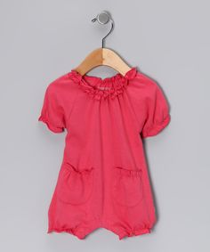 Look at this babysoy Blossom Pocket Soybean Organic Romper on #zulily today!