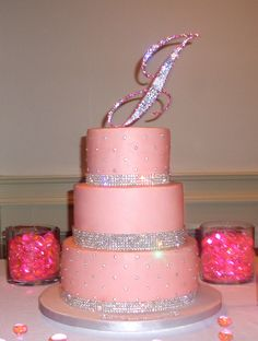 Bling 40th Birthday Cake