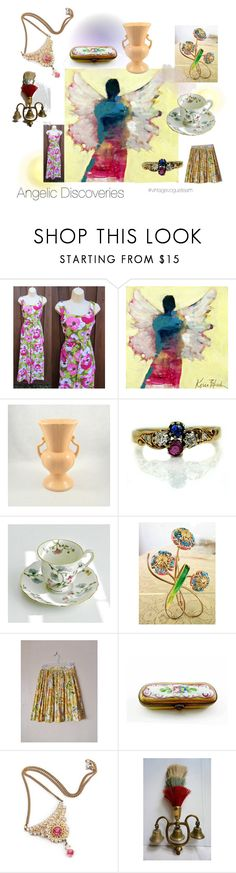 """""""Angelic Discoveries"""" by seasidecollectibles ❤ liked on Polyvore featuring ETUÍ and vintage"""