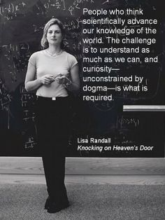 Theoretical physicist Lisa Randall from her book 'Knocking on Heaven's Door.'