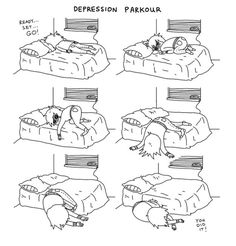 Your relationship to your bed. | 21 Comics That Capture The Frustrations Of Depression