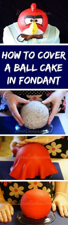 How to Cover Ball Cake in Fondant