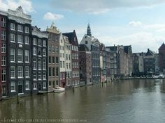 Canal near my hostel in Amsterdam, Netherlands. June 2012.
