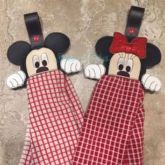 Items similar to Towel Holders Kitchen Towel Toppers Handmade Crochet Towel Holders on Etsy Fabric Crafts, Sewing Crafts, Sewing Projects, Sewing Ideas, Stuffed Animals, Window Frame Crafts, Kitchen Towels Hanging, Theme Mickey, Towel Dress