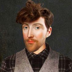 O canal britânico sobre história Yesterday criou uma série de retratos reimaginados a partir de pinturas de personalidades históricas como, por exemplo, a Rainha Elizabeth I.