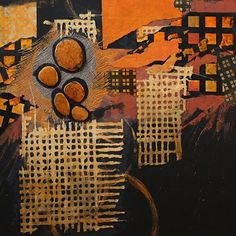 Urban Stones, 121716 by Carol Nelson mixed media ~ 36 inches x 36 inches