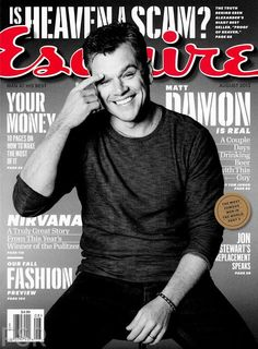 Male Fashion Trends: Matt Damon para Esquire USA Agosto 2013