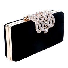 HOT Crown rhinestones evening bags purse clutch evening bags shoulder bag for wedding