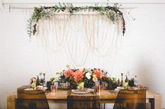 Gold isn't your only choice metallic for a lovely fall wedding — copper can breathe rustic appeal into a sophisticated, tidy wedding, as in the case with this coral-and-copper-hued tablescape.  Via Strictly Weddings