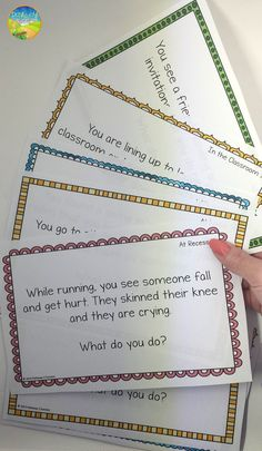 Social problem solving task cards for partners or small groups