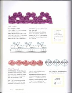 VK is the largest European social network with more than 100 million active users. Col Crochet, Crochet Cord, Crochet Diagram, Crochet Trim, Crochet Motif, Crochet Flowers, Crochet Stitches, Free Crochet, Crochet Border Patterns