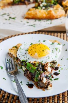 ... and Mushroom Galette with Bacon, Goat Cheese and Balsamic Reduction