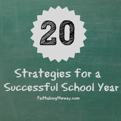 20 Strategies for a Successful School Year: Tips from a veteran teacher!!  http://faithalongtheway.com/strategies-successful-school-year