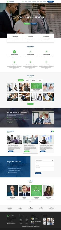Consultis is clean and modern design #PSD template for #consulting business #website with 5 homepage layouts and 34 layered PSD pages to live preview & download click on Visit