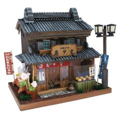 Japanese Doll House Nostalgic Miniature Model L Sweets Shop Kawagoe Handmade | eBay