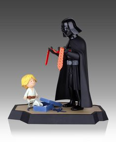 Figura Darth Vader y Luke Skywalker