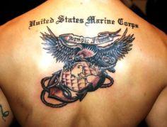usmc back marine tattoo design