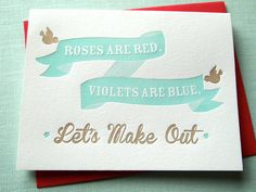 Roses are Red Card by farewellpaperie on Etsy, $5.00