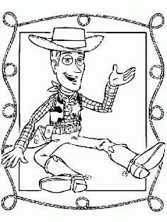 obr. 484 - omalovánky Kovboj Woody Toy Story