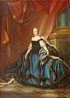 Marie-Josephe of Saxony, Dauphine of France by Jean Martial Fredou, 1747