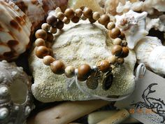 8mm Tiger Jasper and 6mm Chinese Picture Jasper memory bracelet, $17.5