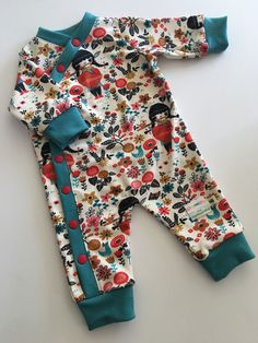 Organic Cotton Knit Sleeper Jumper by OzarkMountainMama on Etsy