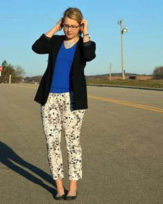 neutral floral pants for spring without being too obvious about it ;)
