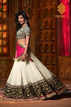 #pink and #white #georgette #lehenga only at www.themagicalthread.com
