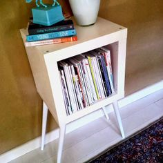 MCM Ikea Hack -- this would make a great stand for the turntable and records. maybe stack a couple cubes