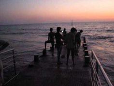 Sun sets on stunningly beautiful Guhagar Beach; west coast of India