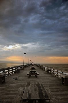 A beautiful view of the Cherry Grove Pier in North Myrtle Beach, South Carolina.