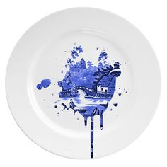 Mineheart Undercover Plate - Large (€85) ❤ liked on Polyvore featuring home, kitchen & dining, serveware, kitchen, ceramic plates and zents