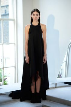 Whistles   Fall 2014 RTW.  Tip the balance in your favour in a black asymmetrical maxi dress, sans sleeves.