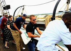 Filmmakers on the annual BlackDog boat ride