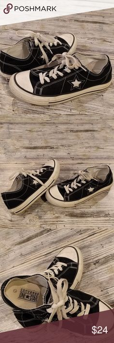 Black and white Converse Black and white Converse One Star tennis shoes  women's size 7 EUC Worn only a few times Converse Shoes Sneakers