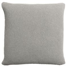 Knitted Cushion - Grey. The moss stitch knit of this grey cushion is a fabulous way to add texture to your home, especially when it is teamed with our matching grey throw. From Sophie Allport