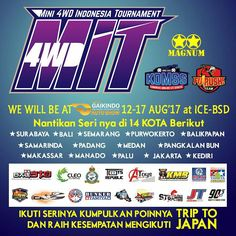Ready your mini 4wd, MINI 4WD INDONESIA TOURNAMENT (M.I.T) will be at GIIAS 2017, participants may attend races to get the points. Get the points to increase your chance in achieving the grand prize trip to Japan. #GIIAS2017 #GIIAS #gettheworld #tamiyaindonesia #Mini4WD #TamiyaMini4WD #IndonesiaCup2017 #IC2017 #KOMSS #STO100 #ミニ四駆 #tamiya #TOS #STO #TamiyaOriginalSeratus #furush #teamflazh #asiachallenge2017