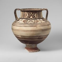 Terracotta amphora (jar) from Cyprus, ca. 850-750 BC. Located in The Metropolitan Museum of Art, NY.