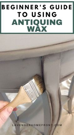 Waxing Painted Furniture, Painting Antique Furniture, Furniture Painting Techniques, Chalk Paint Furniture, Diy Furniture Wax, Furniture Projects, Chalk Paint Chairs, Chalk Paint Wax, Chalk Painting