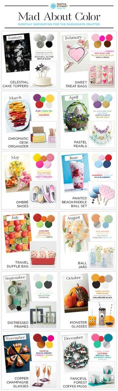 Mad About Color // A year of Color Inspiration and fun craft ideas!