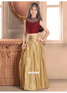 f3fd5e5b50 Demure Banglory Silk Blue Indo-Western Dress
